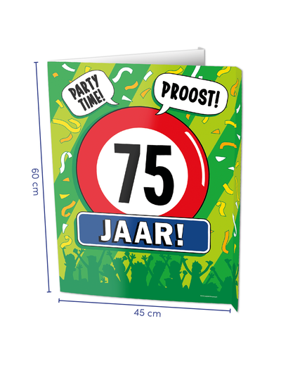 Versiering Window Sign - 75 Jaar