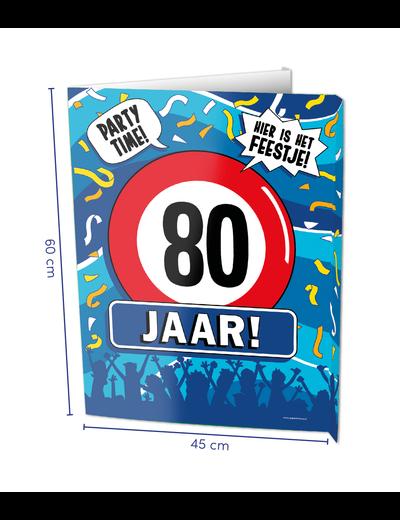 Versiering Window Sign - 80 Jaar
