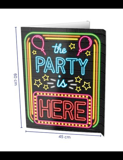 Versiering Window Sign - Party Neon