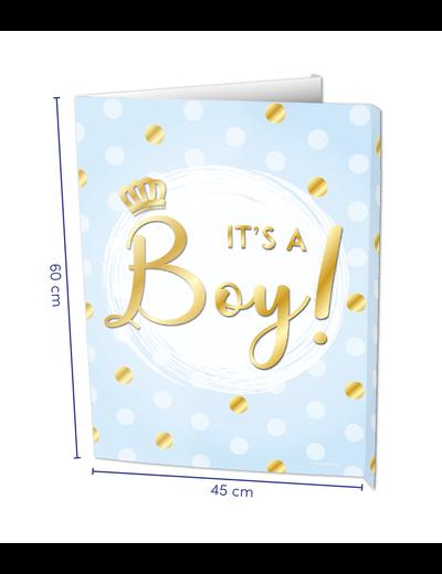 Versiering Window Sign - It's a Boy