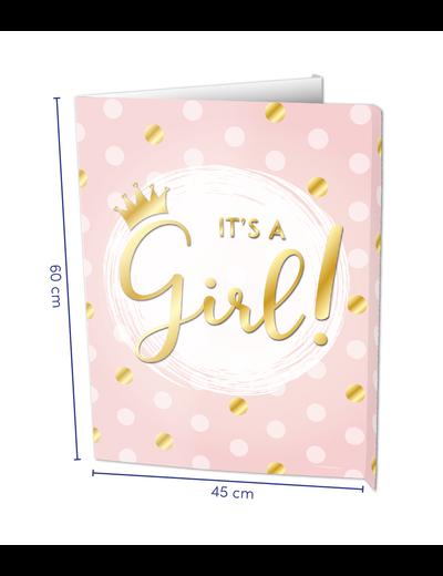 Versiering Window Sign - It's a Girl