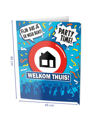 Versiering Window Sign - Welkom Thuis