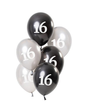Ballonnen Glossy Black - 16 t/m 80 Jaar
