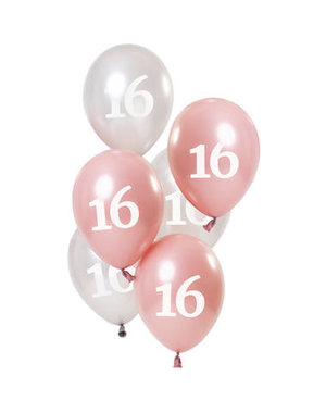Ballonnen Glossy Pink - 16 t/m 80 Jaar