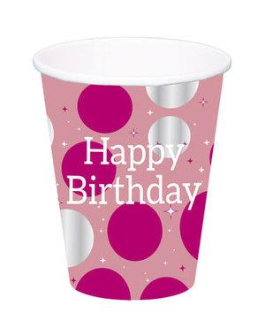 Tafelservies Bekers Glossy Pink - 8stk