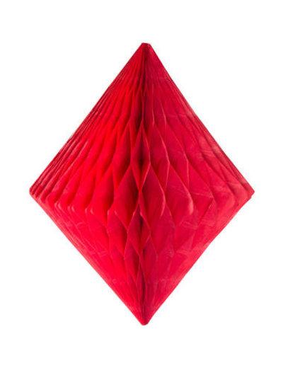 Honeycomb Diamant - Rood