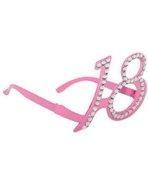 Accessoires Bril 18 Jaar Diamant - Roze