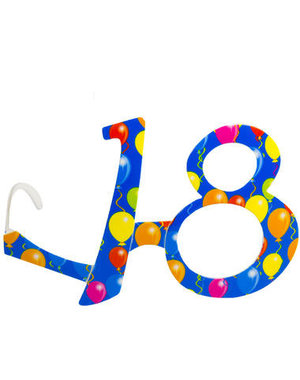 Accessoires Bril Balloons 18 Jaar