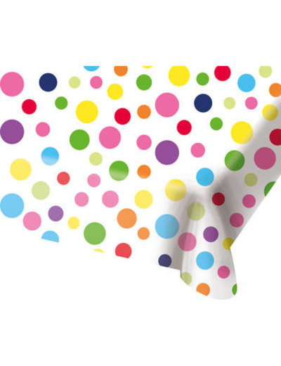 Tafelservies Tafelkleed Happy Birthday Dots - 130x180cm