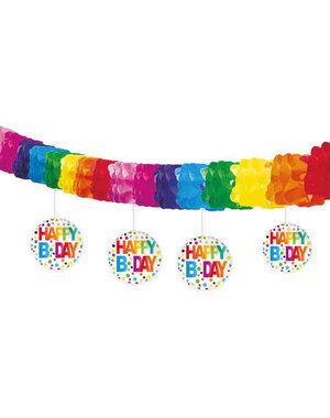 versiering Slinger Happy Birthday Dots - 4mtr