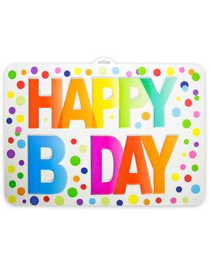 versiering Deurbord Happy Birthday Dots