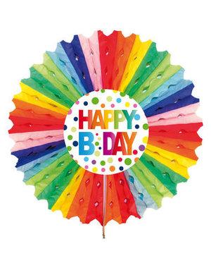 versiering Honeycomb Happy Birthday Dots - 30cm
