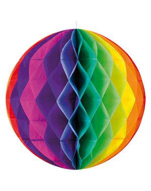 versiering Gekleurde Rainbow  Honeycomb - 50cm