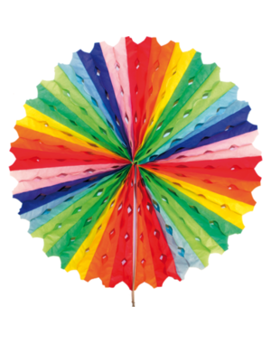 Versiering Honeycomb Waaier Rainbow