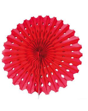 Versiering Honeycomb Waaier Rood