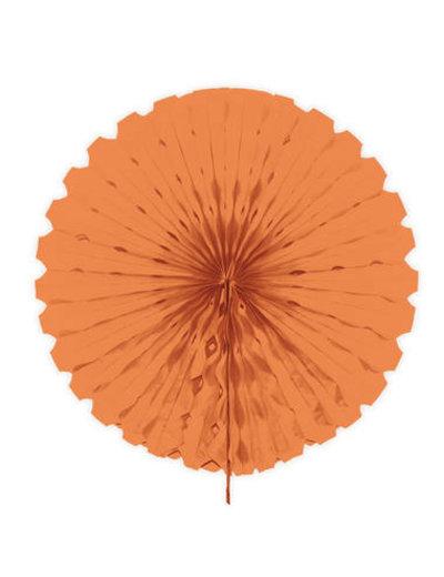 Versiering Honeycomb Waaier Zalm Roze