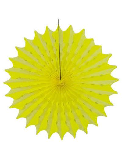 Versiering Honeycomb Waaier Neon Geel