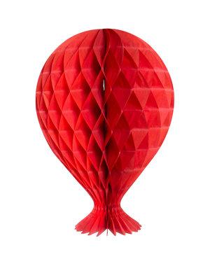 versiering Rode Honeycomb Ballon
