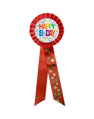 Accessoires Rozet  Happy Birthday Dots