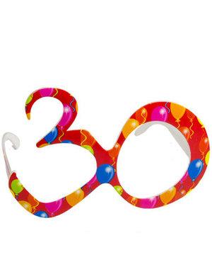 Accessoires Bril Balloons 30 Jaar