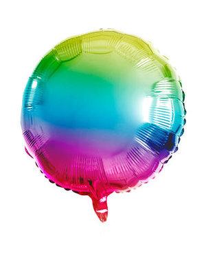 Folieballon Folieballon Rainbow Rond - 45cm