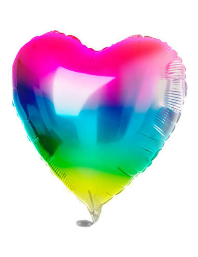 Folieballon Folieballon Rainbow Hart - 45cm