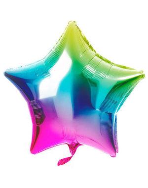 Folieballon Folieballon Rainbow Ster - 48cm