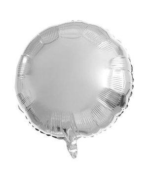 Folieballon Folieballon Zilver Rond - 45cm