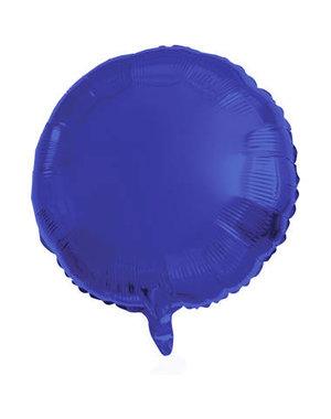 Folieballon Folieballon Metallic Mat Blauw  Rond - 45cm