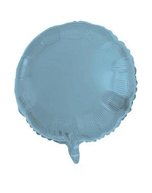 Folieballon Folieballon Metallic Mat Pastel Blauw Rond - 45cm