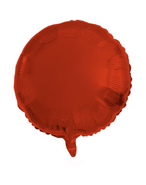 Folieballon Folieballon Metallic Mat Rood Rond - 45cm