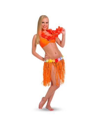 Accessoires Oranje Hawaii Rokje