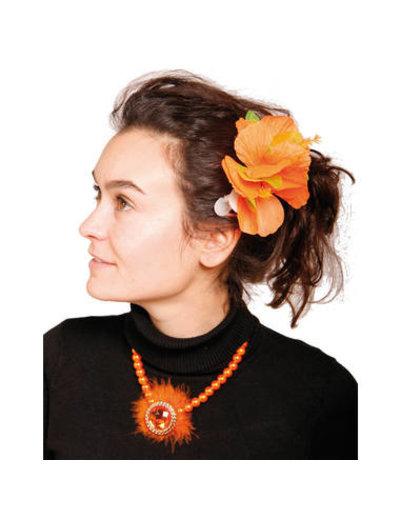 Accessoires Oranje Hawaii Bloem Haarclip