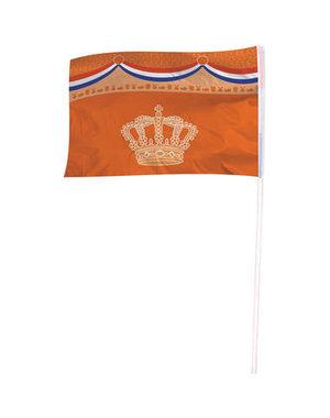 Accessoires Oranje Vlag Kroon - 100x150m