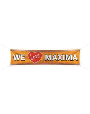 versiering Spandoek We love Maxima - 180x40cm