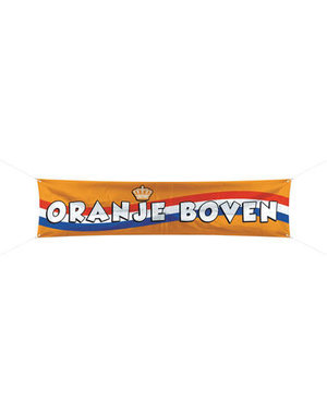 versiering Spandoek Oranje Boven - 180x40cm