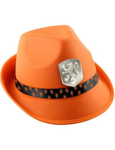 Accessoires Oranje Trilby Hoed KNVB Logo