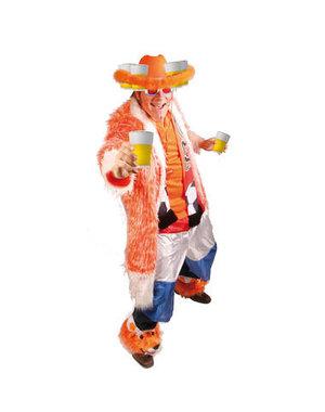 Accessoires Oranje Bierhoed met Bontrandje