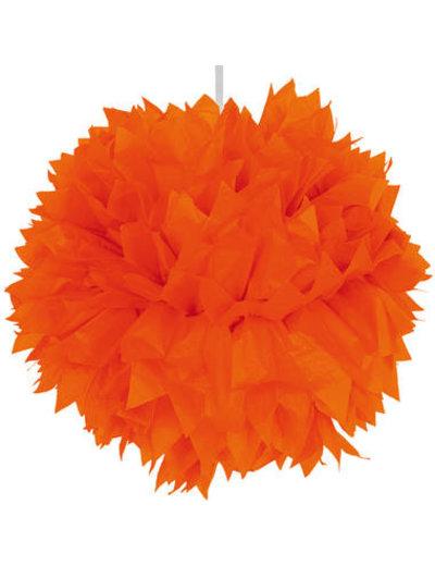 Versiering Pompom Oranje - 30cm