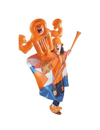 Versiering Opblaasbare Zwaaihand Oranje Leeuw
