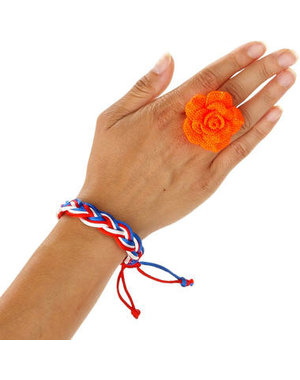 Accessoires Ring Oranje Roos