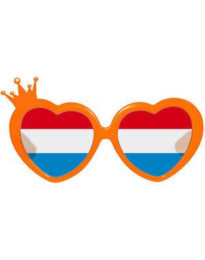 Accessoires Bril Rood/Wit/Blauw /Oranje