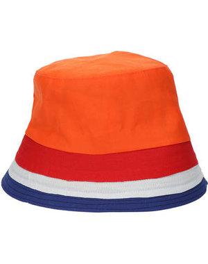 Accessoires Vissershoed Oranje/Rood/Wit/Blauw