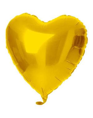 Folieballon Folieballon Goud Hart - 45cm