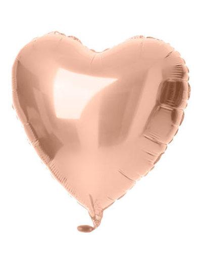 Folieballon Folieballon Rosé Goud Hart - 45cm