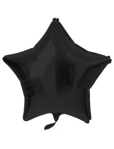 Folieballon Folieballon Metallic Mat Zwart - 48cm