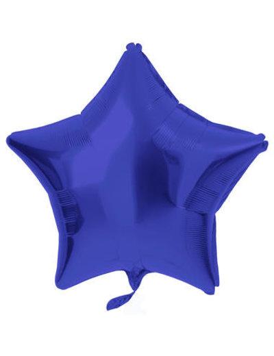 Folieballon Folieballon Metallic Mat Blauw - 48cm