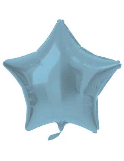 Folieballon Folieballon Metallic Mat Pastel Blauw - 48cm