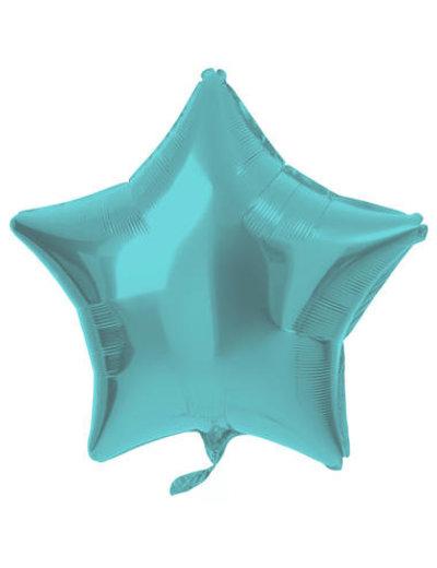 Folieballon Folieballon Metallic Mat Pastel Aqua - 48cm
