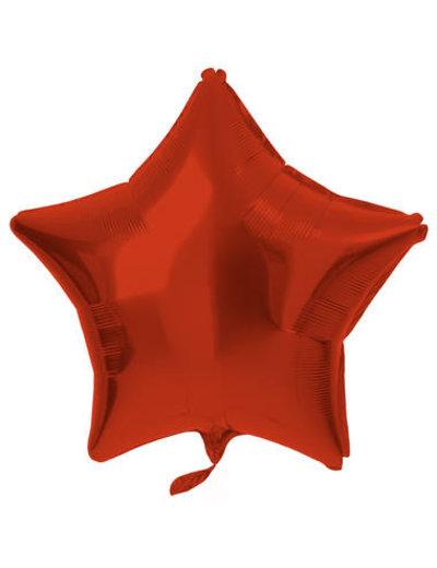 Folieballon Folieballon Metallic Mat Pastel Rood - 48cm